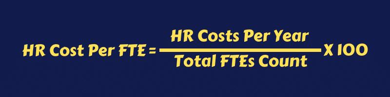 Formula HR Cost Per FTE