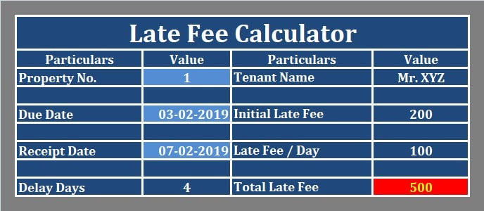 Late Fee Calculator