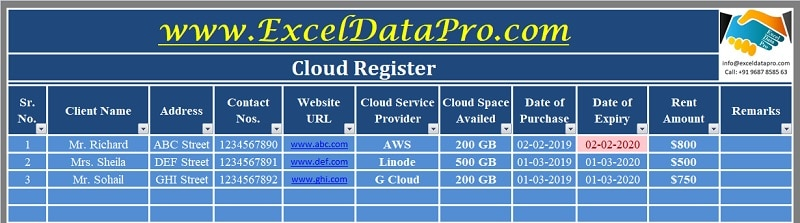 Cloud Register