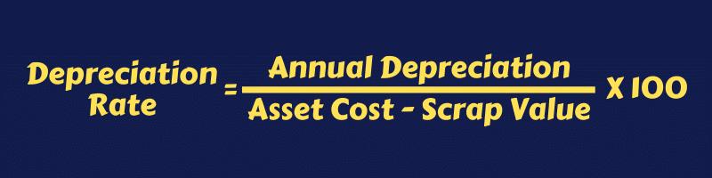 Depreciation rate
