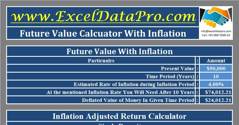 Download Future Value Calculator Excel Template