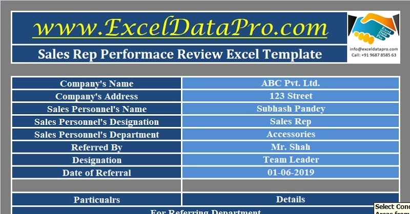 Sales Rep Performance Review