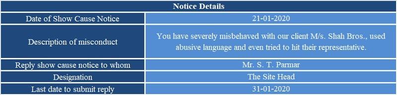 Show Cause Notice