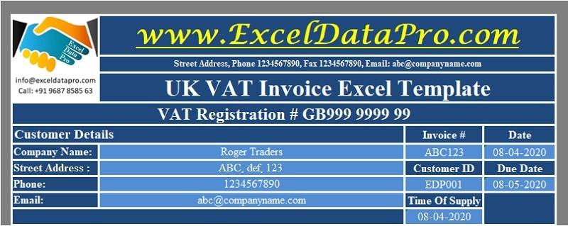 UK VAT Invoice