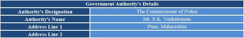 Complaint Letter To Government Authority