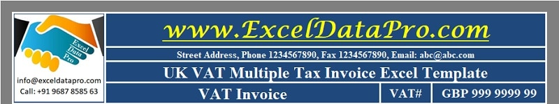 UK VAT Multiple Tax Invoice