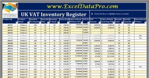 UK VAT Inventory Register