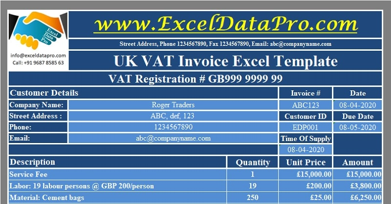 UK VAT Invoice